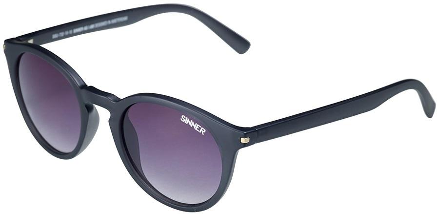 Sinner Adult Unisex Patnem Round Gradient Smoke Winter/Summer Sunglasses, M Black