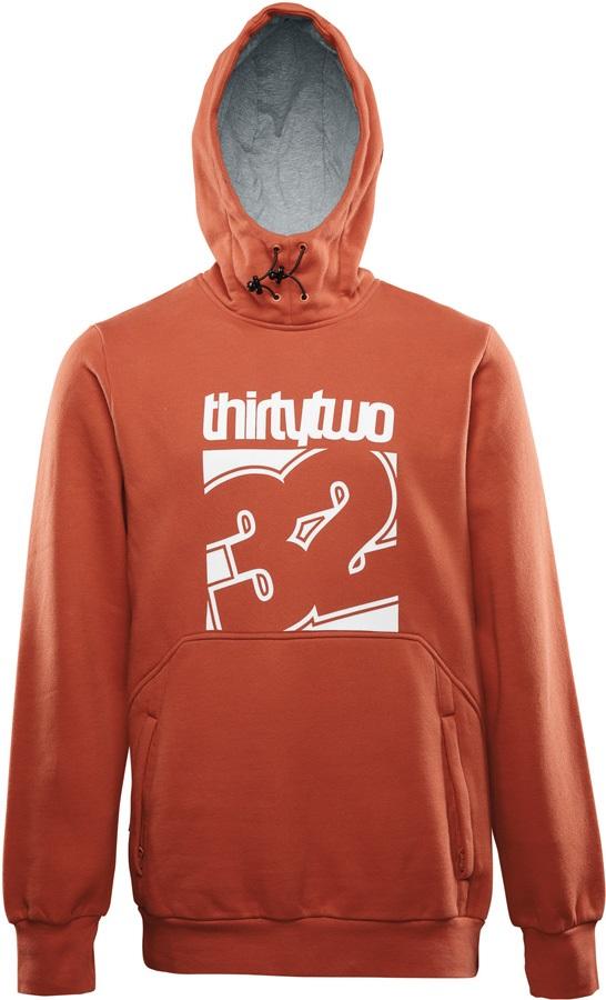 thirtytwo Stamped Pullover Fleece S Burnt Orange
