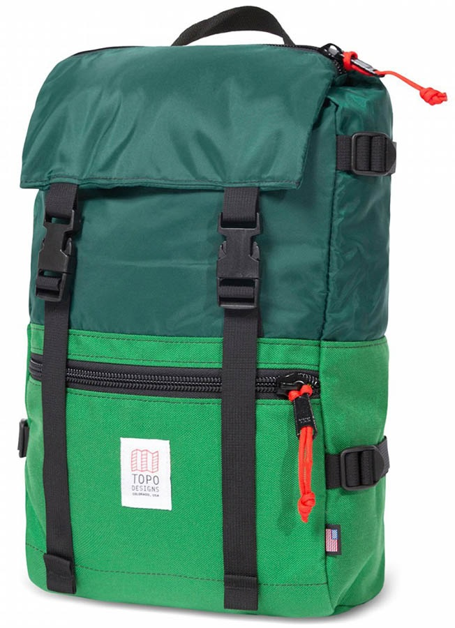 Topo Designs Rover Pack Day Pack/Backpack, 20L, Forest/Kelly