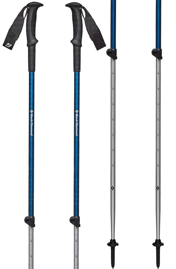 Black Diamond Trail Sport 3 Adjustable Trekking Poles, Kingfisher