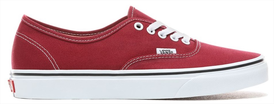 Vans Authentic Skate Shoe, UK 10.5 Rumba Red/True White
