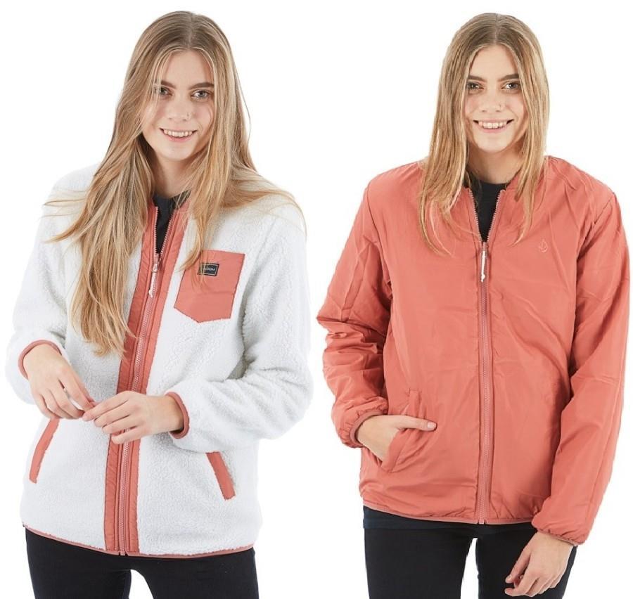Volcom Reversible Polar Women's Ski/Snowboard Jacket M Mauve