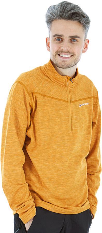 Montane Adult Unisex Protium Pull-On Men's Technical Fleece, Xl Inca Gold
