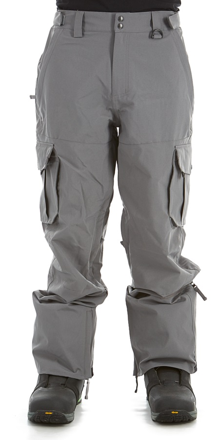 Sessions Adult Unisex Squadron Ski/Snowboard Pants, L Gunmetal