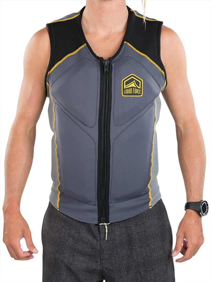 Liquid Force Watson Wakeboard Impact Vest, L Steel