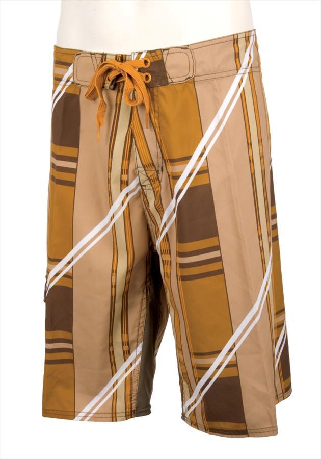 "Liquid Force Fat Boy Board Shorts, M - 34"" / 86cm Waist Brown"
