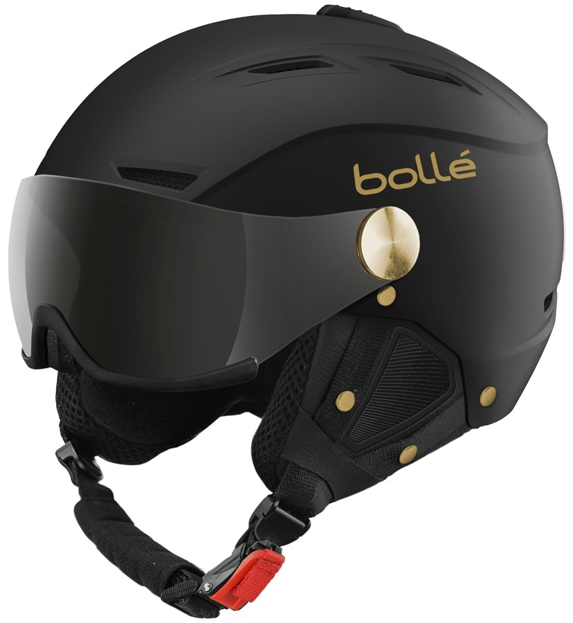 Bolle Backline Visor Ski/Snowboard Helmet, M, Soft Black & Gold