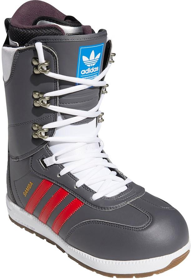 Adidas Samba ADV Snowboard Boots, UK 7 Grey Five/Scarlet/Gold 2022