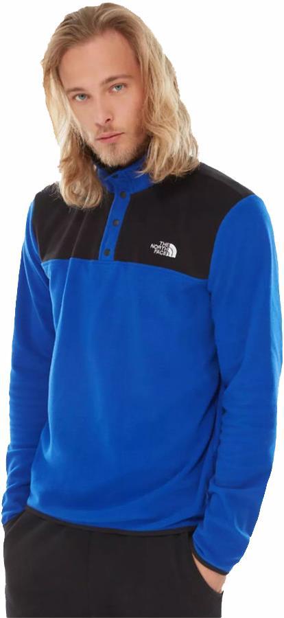 The North Face Adult Unisex Tka Glacier Snap-Neck Pullover Fleece, S Bolt Blue