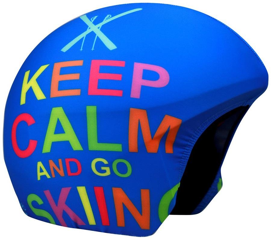 Coolcasc Printed Cool Ski/Snowboard Helmet Cover, One Size, Keep Calm