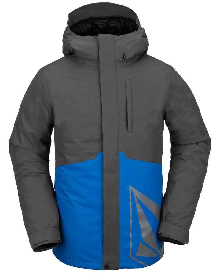Volcom 17 Forty Insulated Ski/Snowboard Jacket, L Cyan Blue