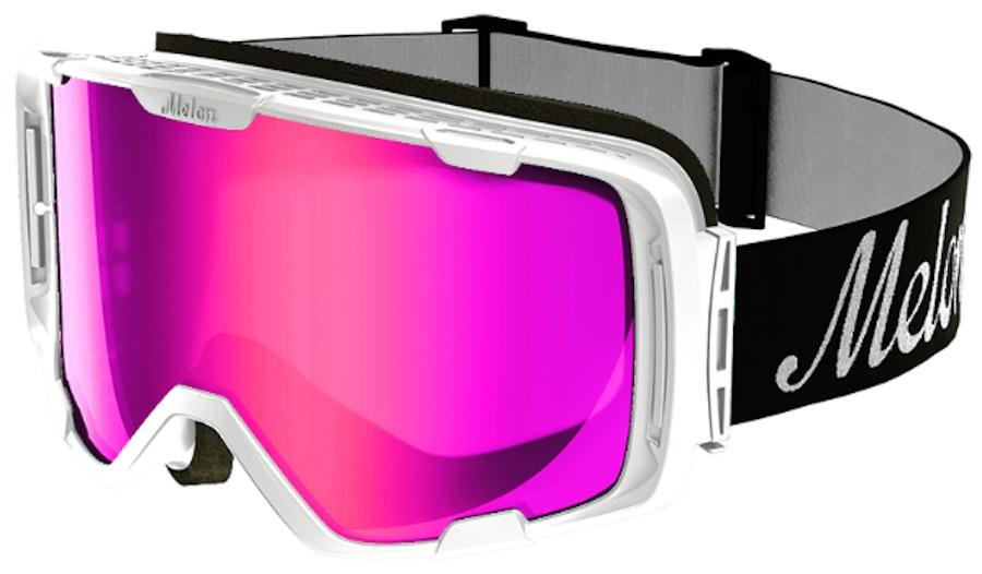Melon Parker Pink Chrome Snowboard/Ski Goggle, M/L White