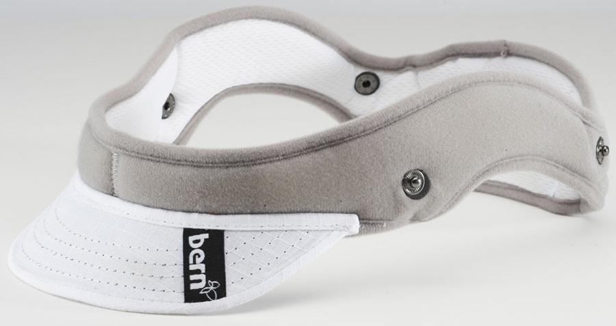 Bern Women's Summer Helmet Liner, XS/S, White Visor, Zip Mold
