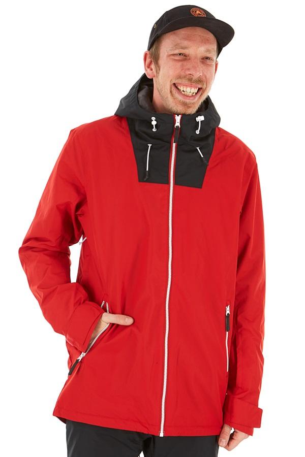 Wearcolour Block Ski/Snowboard Jacket L Falu Red