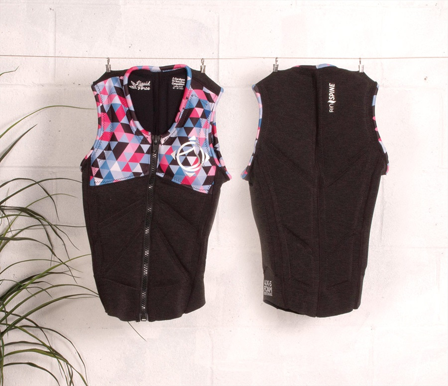 Liquid Force Z Cardigan Ladies Wakeboard Impact Vest XS Coal Multi