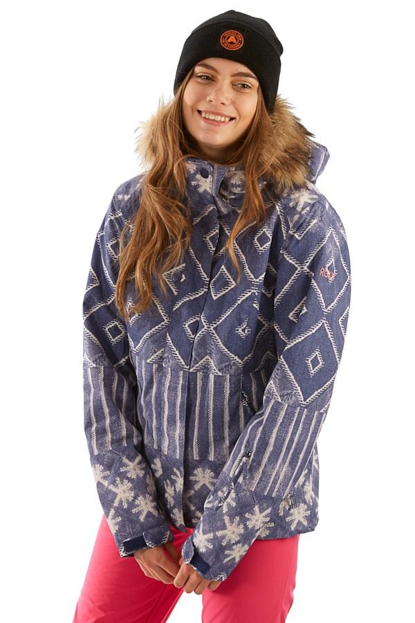 Roxy Jet Ski SE Women's Ski/Snowboard Jacket, M Mid Denim Wake Up