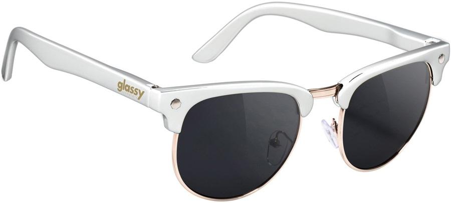 Glassy Sunhaters Morrison Sunglasses, White/Gold