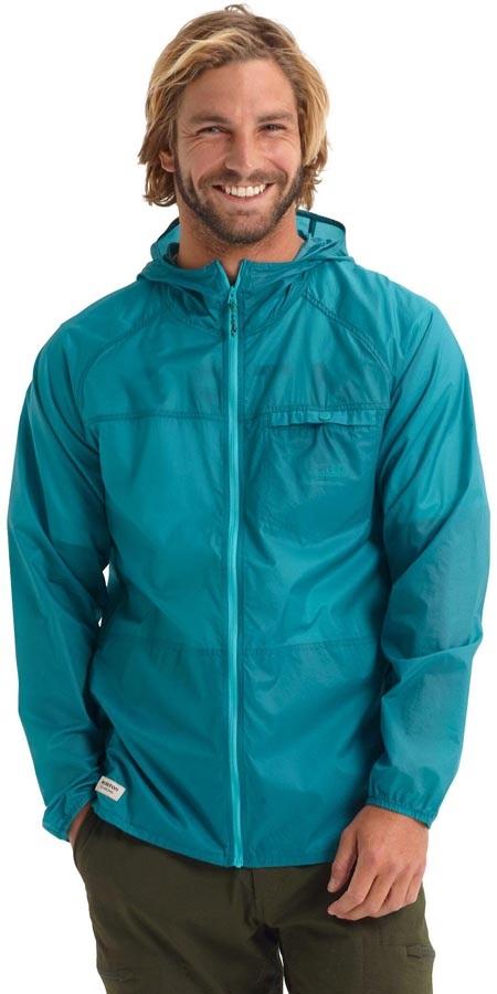 Burton Portal Lite Waterproof Rain Jacket, M Green/Blue Slate
