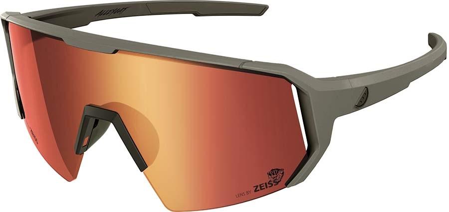 Melon Adult Unisex Alleycat Red Chrome Performace Sunglasses, M/L Grey/Black