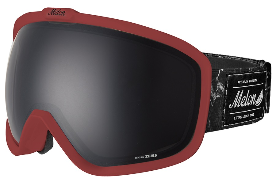Melon Jackson Dark Smoke Snowboard/Ski Goggle, M/L Burgundy