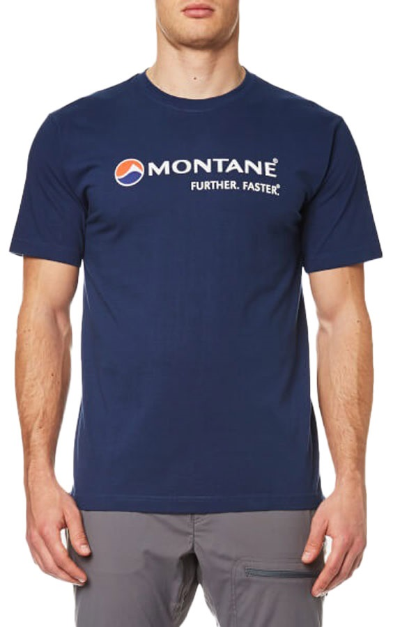 Montane Logo Short Sleeve Crew Organic Cotton T-Shirt, S Antarctic