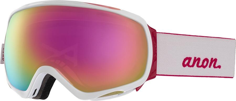 Anon Tempest Sonar Pink Women's Ski/Snowboard Goggles, M/L White