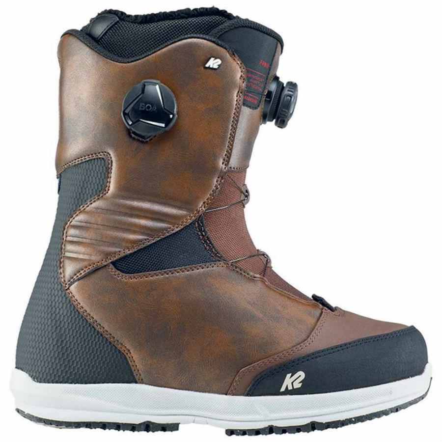 K2 Renin Men's BOA Snowboard Boots, UK 8.5 Brown 2020