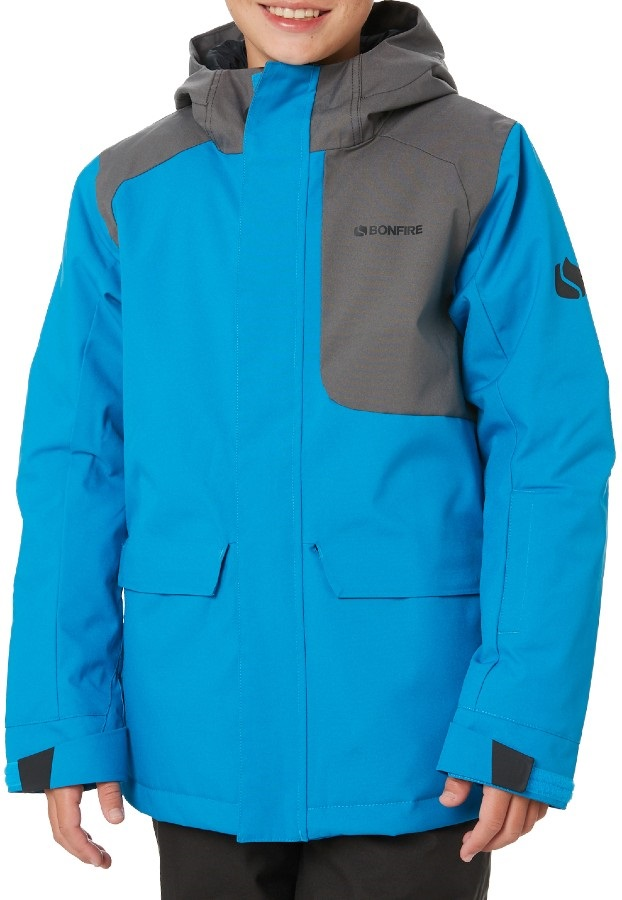 Bonfire Structure Youth Ski/Snowboard Jacket, Xl Cyan