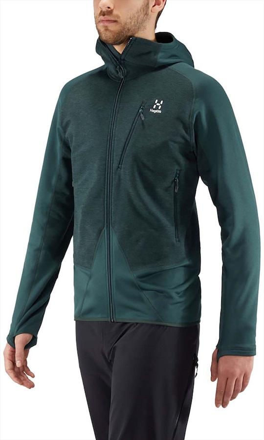 Haglofs Spire Mid Hood Lightweight Breathable Jacket, M Mineral