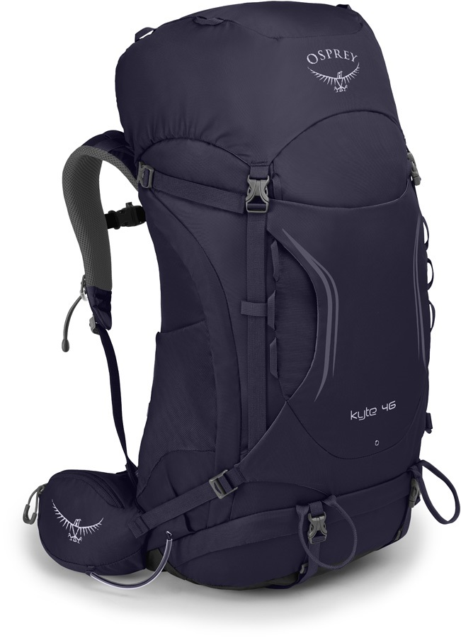 Osprey Womens Kyte 46 WS/WM Trekking Pack, Mulberry Purple