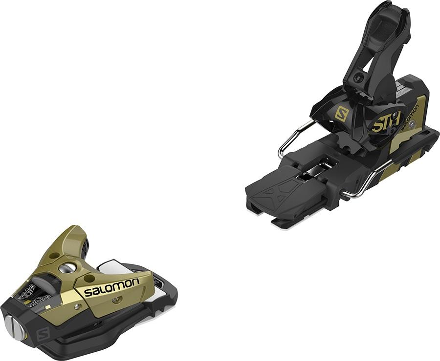Salomon STH2 16 WTR Ski Bindings, 90mm Gold/Black