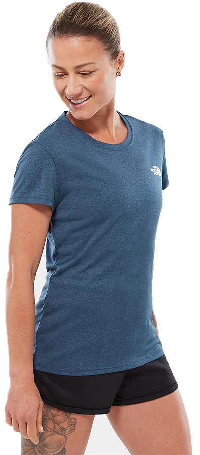 The North Face Reaxion Ampere Crew Women's T-Shirt UK 12 Blue Wing