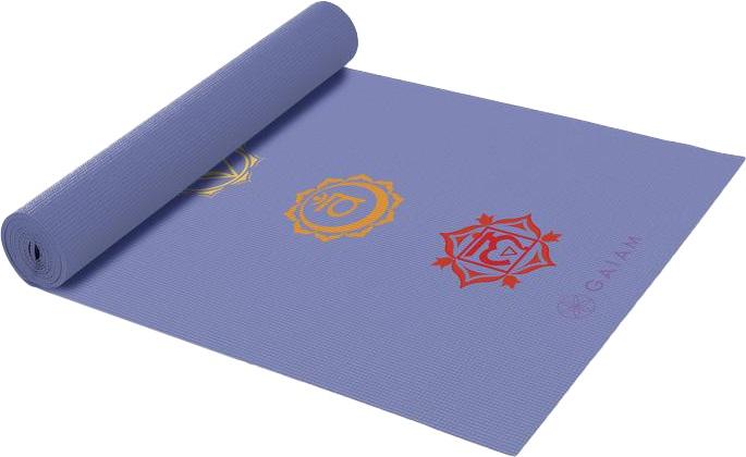Gaiam Classic Printed Yoga/Pilates Mat, 4mm Chakra