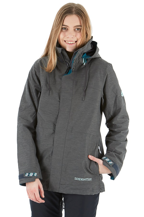 686 Smarty 3-in-1 Spellbound Womens Snowboard/Ski Jacket, M Charcoal