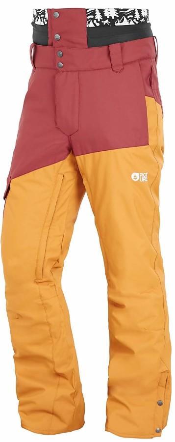 Picture Panel Ski/Snowboard Pants, L Ketchup/Camel