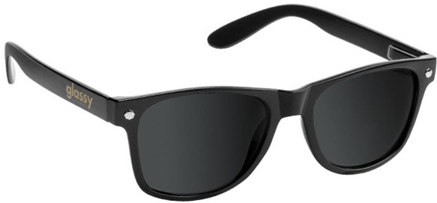 Glassy Sunhaters Leonard Sunglasses Black Grey Polarized Lens