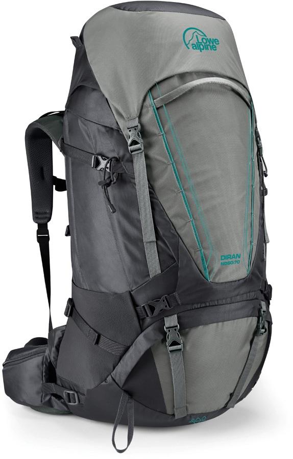 Lowe Alpine Diran ND 50:60 Trekking Backpack, 60L Greystone/Iron Grey