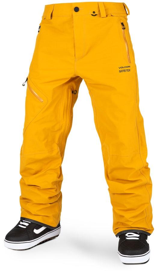 Volcom Adult Unisex L Gore-Tex Ski/Snowboard Pants, Xl Resin Gold