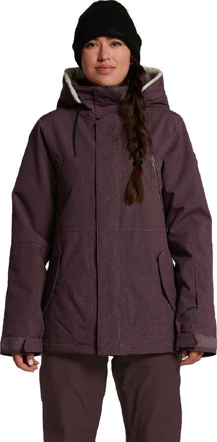 Volcom Shrine Insulated Women's Ski/Snowboard Jacket UK 12 Black Red