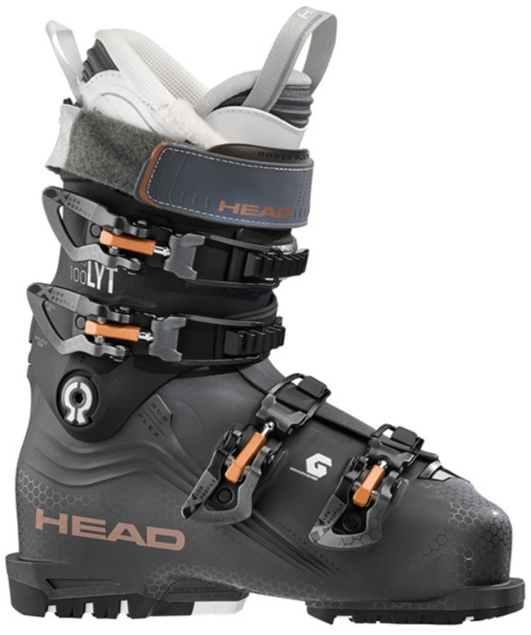 Head Womens Nexo Lyt 100 W G Women's Ski Boots, 24.5 Anthracite/Black 2020