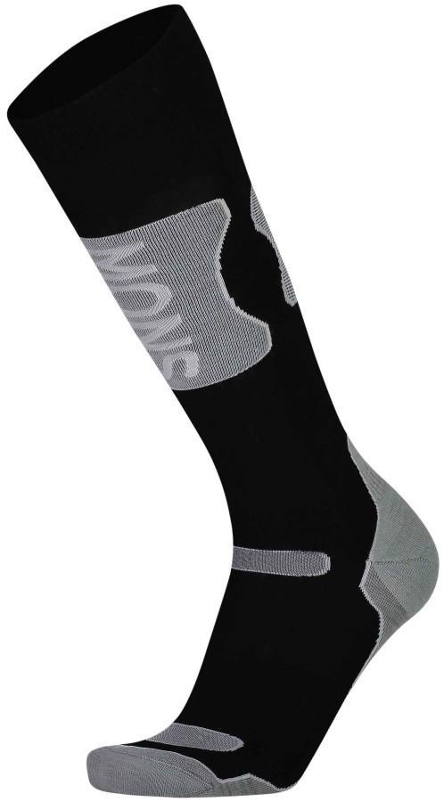 Mons Royale Pro Lite Tech Ski/Snowboard Socks M Black/Grey Marl