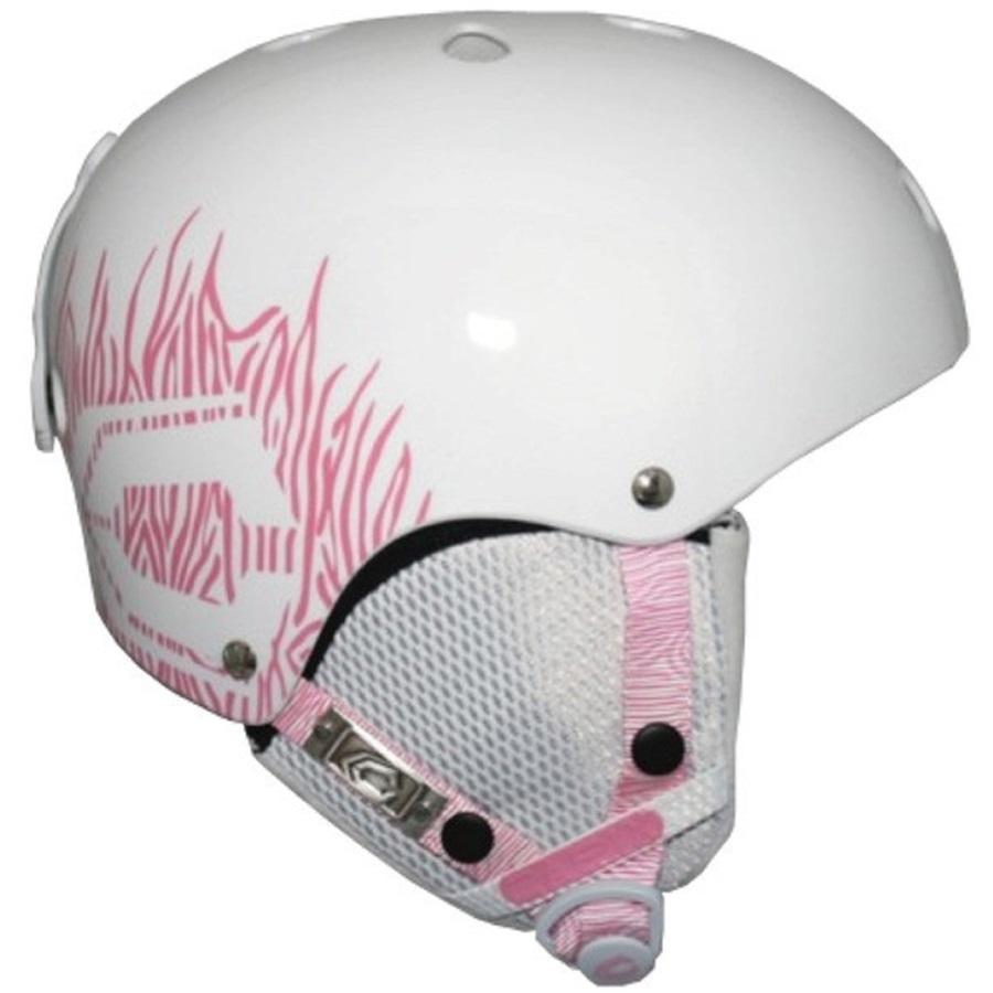 Capix Dynasty Women's Skate/Bike Helmet, L/XL, White/Pink