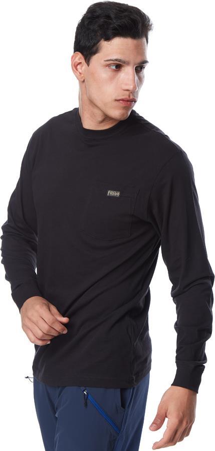 Filson Ranger Solid Pocket Long Sleeve T-Shirt, M Coal