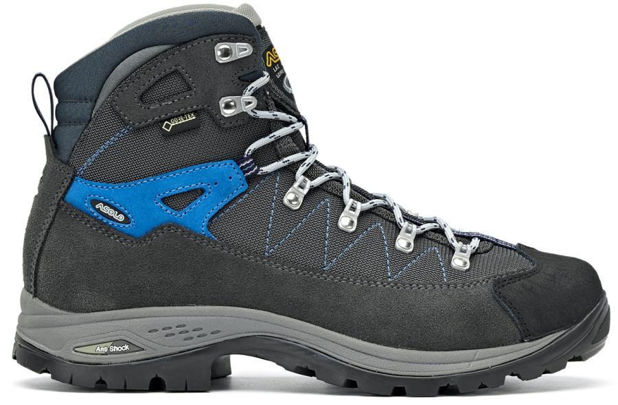 Asolo Finder GV Hiking Boots, UK 8 Grafite/Gun Metal/Sports Blue