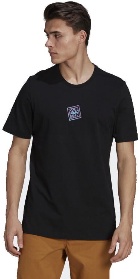Adidas Five Ten Logo Heritage Cotton T-shirt, L Black