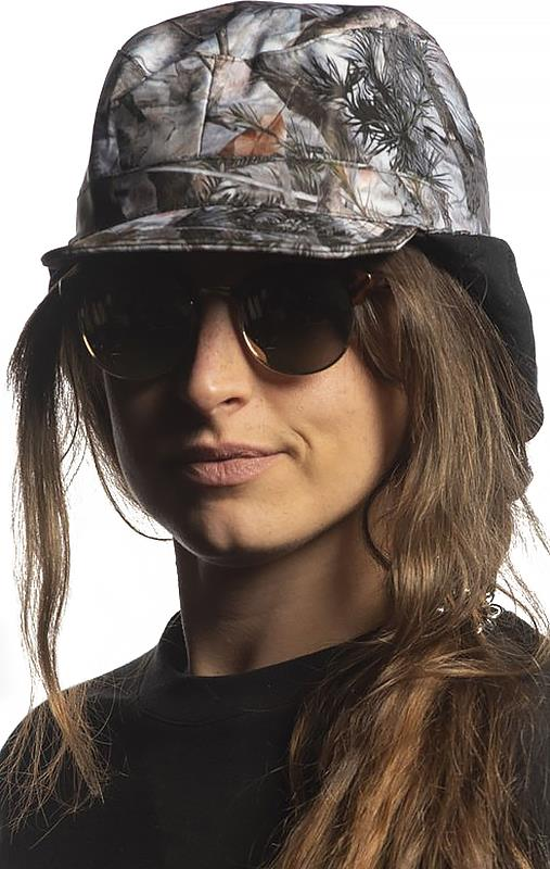Brethren Apparel Patrol Cap Ear Flap Sniper Hat, Forest Camo