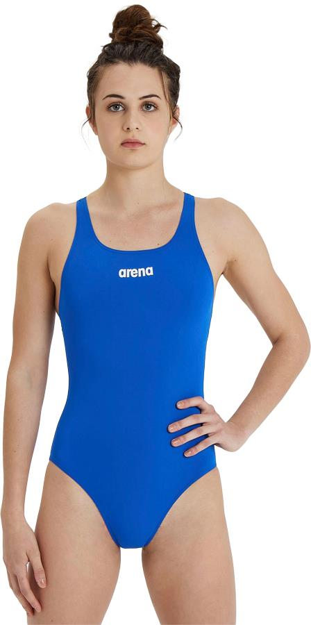 arena Solid Pro Women's One-Piece Swimsuit, UK 28 Royal Blue/White