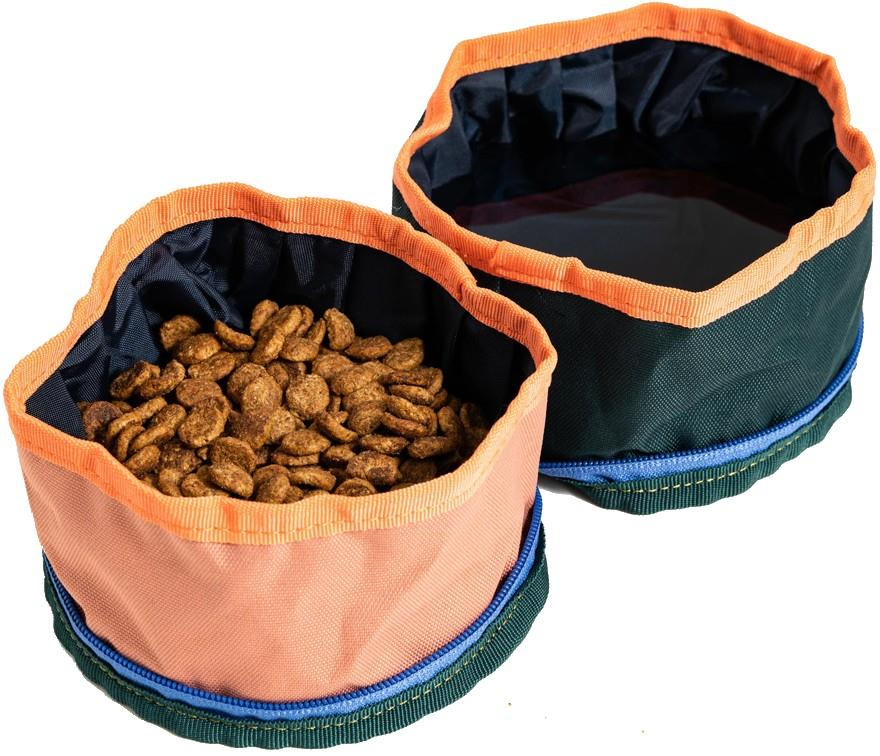United By Blue Collapsible/Portable Dog Food/Water Bowls, Salmon