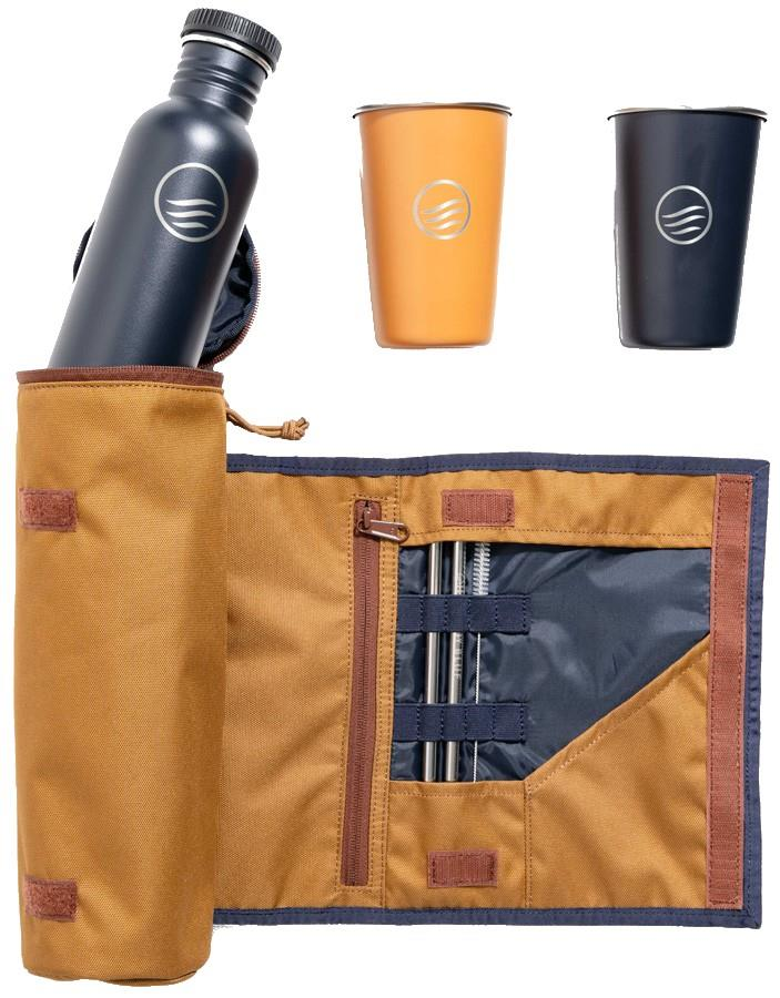 United By Blue Drink Kit Water Bottle & Cup Set, Camel