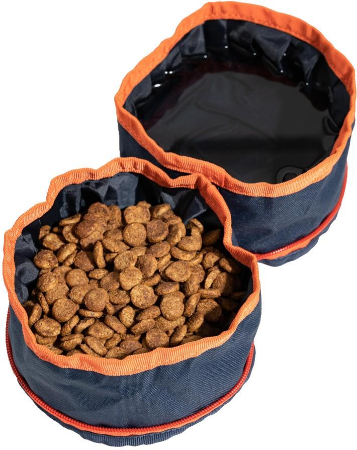 United By Blue Collapsible/Portable Dog Food/Water Bowls, Blue